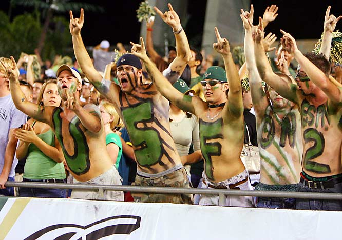 USF fans came to life during Saturday's match-up against No. 23 Rutgers.