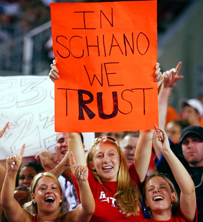 On the other hand, this Golden Knights fan let Coach Schiano know that he is still loved at Rutgers.