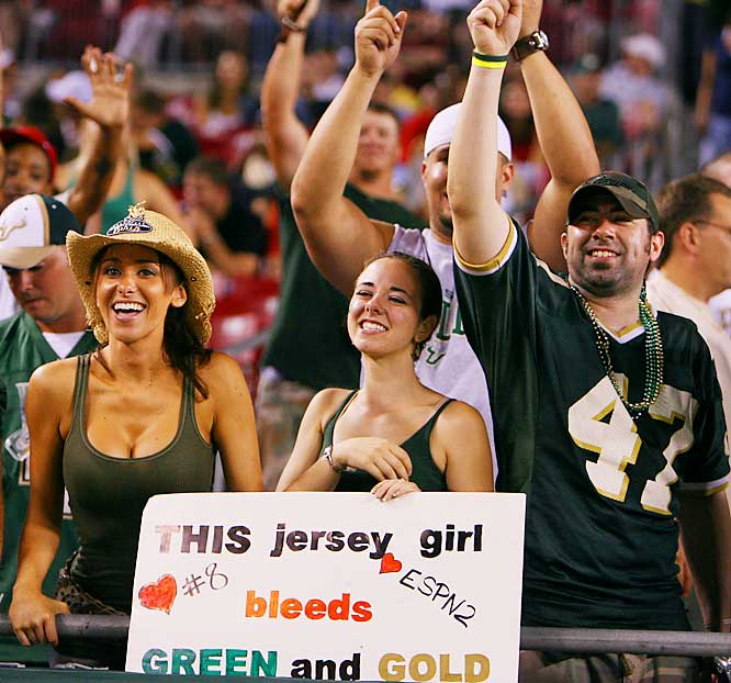 This transplanted Jersey girl showed her love for South Florida.