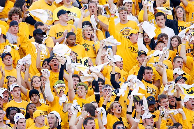 Iowa fans made some mighty noise during kickoff of Saturday's match-up against top-ranked Ohio State. Their joy would be short-lived as the Hawkeyes fell to the Buckeyes, 38-17.