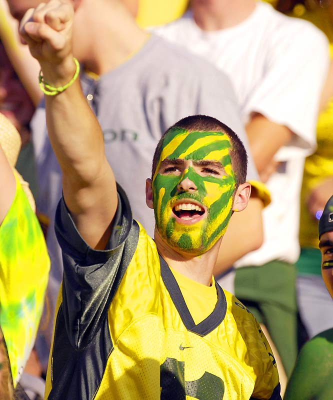 Another Oregon fan made the trek to see his Ducks take on Cal at Berkeley.