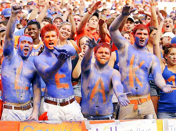 Gator fans showed their support for Chris Leak during Saturday's match-up against LSU.
