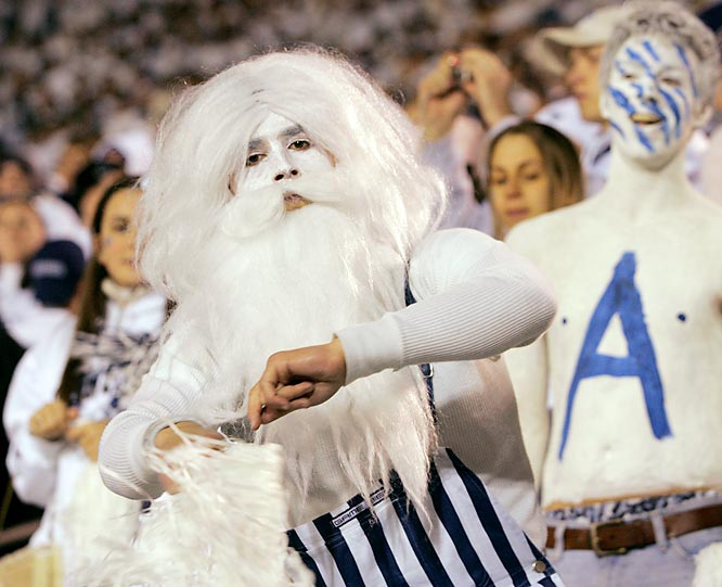 Even Santa Claus made an appearance at Saturday's Big Ten showdown between Penn State and Michigan.