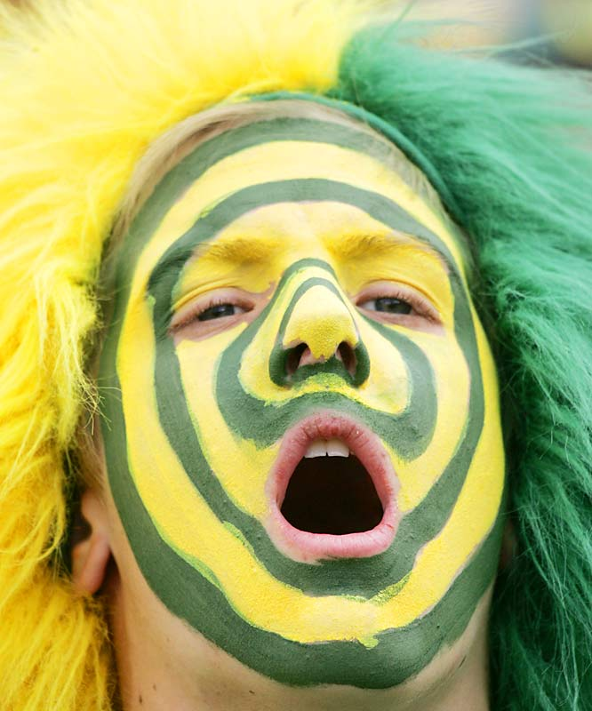 This Oregon fan went all out on the face paint, and it paid off as the Ducks defeated UCLA.