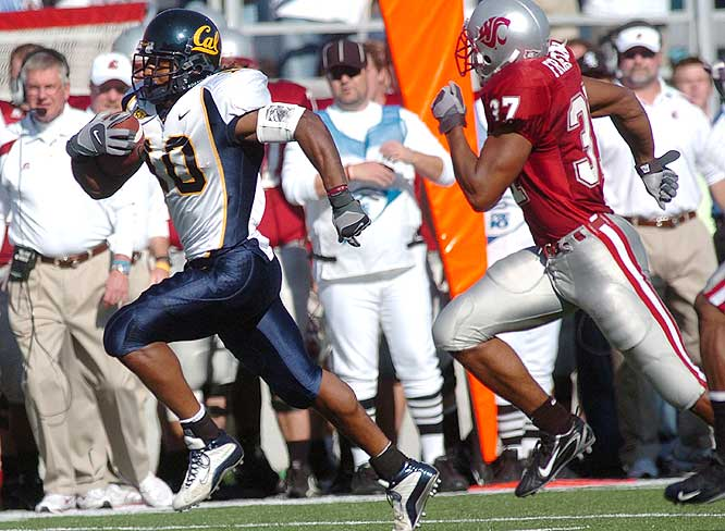 Marshawn Lynch ran for 152 yards and two touchdowns as the Golden Bears won in Pullman for the first time in 27 years.