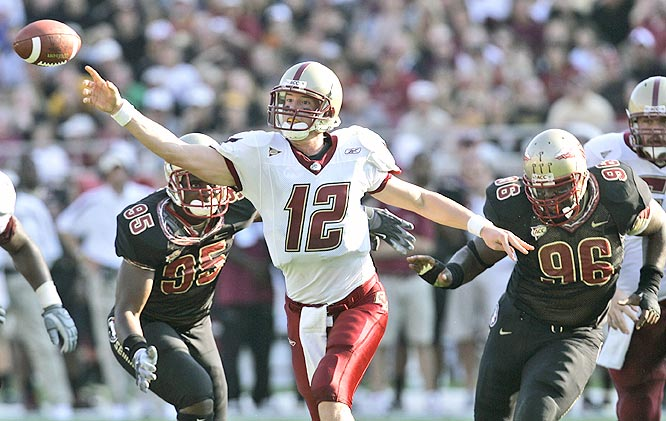 Matt Ryan threw for 262 yards and the Eagles used a 21-point second quarter to drop Florida State.