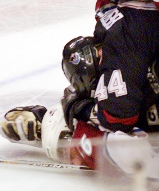 In 2004, a few weeks after Colorado's Steve Moore injured Bertuzzi's linemate Markus Näslund on a hard -- but legal -- hit, the bruising power forward took it upon himself to retaliate and blindsided Moore with a massive haymaker before driving him into the ice. Moore suffered extensive injuries, including three broken vertebrate. Bertuzzi was suspended for 17 months and wasn't allowed to play in Europe or two world championships during the NHL lockout.