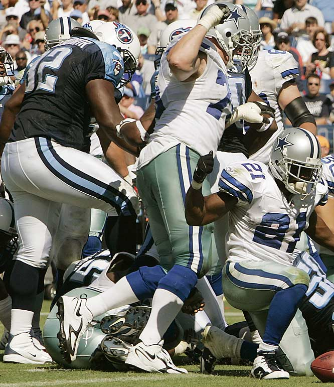 After his team had fallen behind 20-6 in a game it would eventually lose 45-14, the Titans defensive tackle stomped on the face of Dallas center Andre Gurode, drawing an unprecedented five-game suspension.