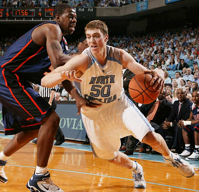 Headliners: Tyler Hansbrough (left), Brandan Wright, Reyshawn Terry<br><br> Hansbrough, who averaged 18.9 points and 7.8 boards as a freshman, is on par with -- or perhaps better than -- Florida's Joakim Noah and LSU's Glen Davis at the center position. He'll only get better with the support of Wright, a scary 6-9 power forward, in the Heels' runnin' frontcourt.