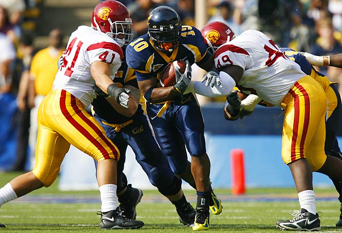 The Golden Bears kicked off the year in embarrassing fashion, suffering a 35-18 shellacking at the hands of Tennessee. But since then Cal has looked fabulous in five straight blowout wins. While the Trojans are undefeated, they have looked far from dominant. Can Cal knock off USC and end the Trojans' four-year streak of Pac-10 titles?
