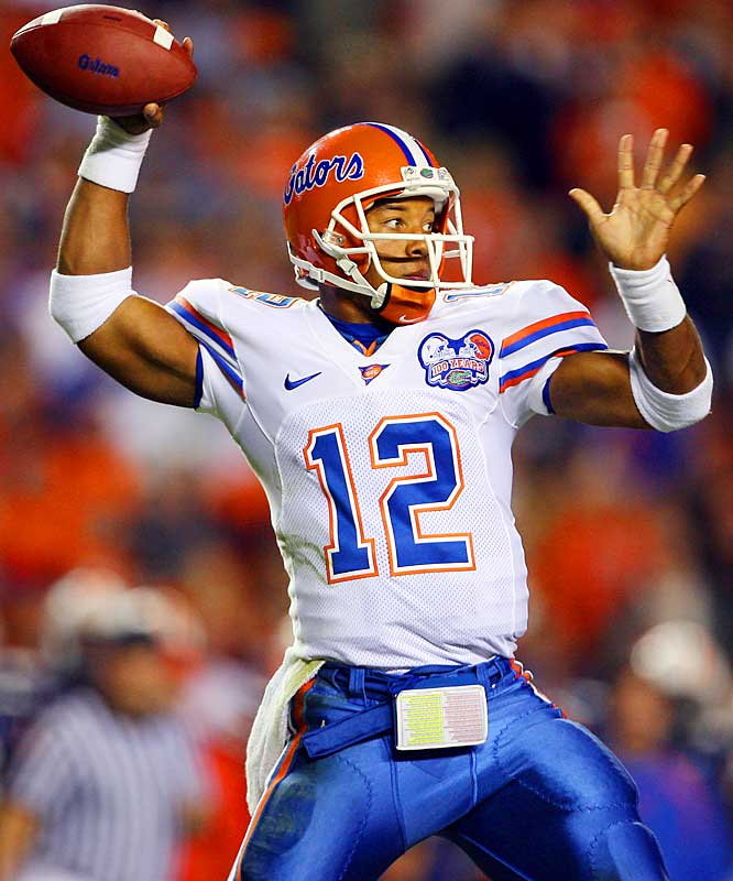 Freshman Tim Tebow has become a Gator-fan favorite behind center, but Florida's senior quarterback is no slouch. The four-year starter has thrown for 9,774 yards and 80 touchdowns over his career.