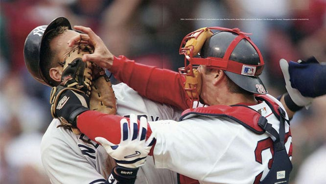 Baseball's hottest rivalry boiled over when Red Sox catcher Jason Varitek confronted the Yankees' Alex Rodriguez at Fenway Park.