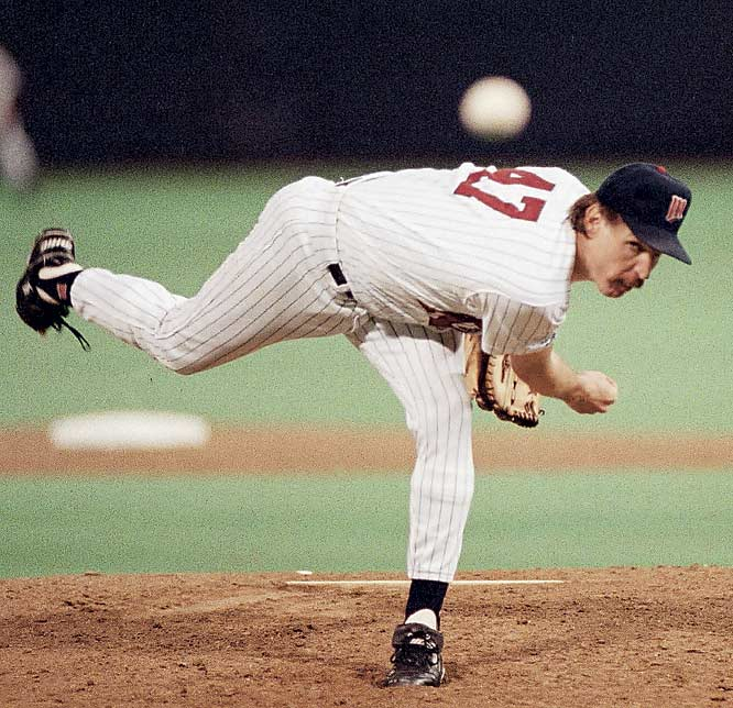Minnesota's Jack Morris and the Braves' John Smoltz, Mike Stanton and Alejandro Pena locked up in a scoreless duel. The Twins' Gene Larkin singled home Dan Gladden with the winning run with one out in the bottom of the 10th to give Minnesota its second World Series title in five seasons.