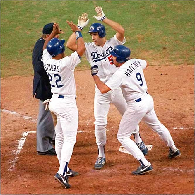 Kirk Gibson and Orel Hershiser grabbed the headlines, but Hatcher hit .368 during the Series and sparked the Dodgers with first-inning homers in Game 1 and 5. Hatcher hit one homer in 191 at-bats during the regular season.