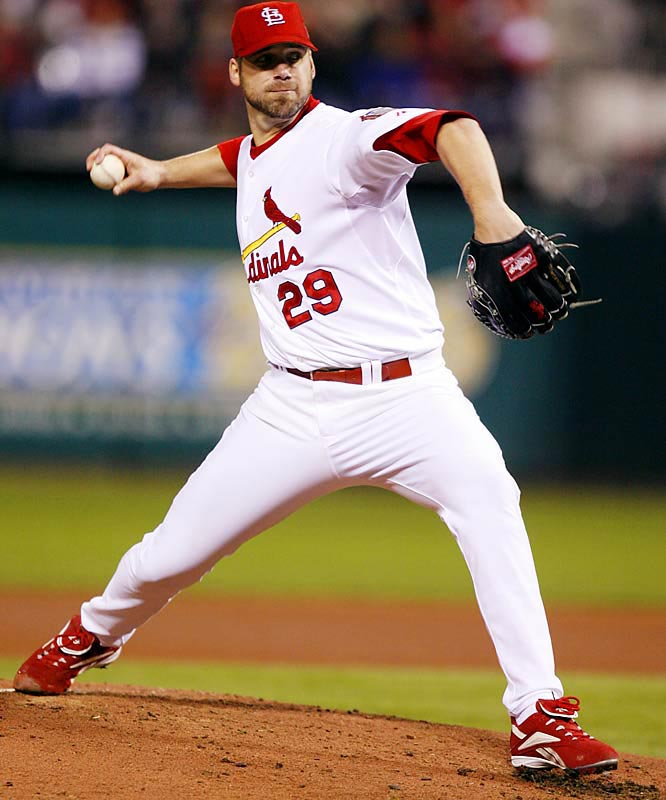 St. Louis starter Chris Carpenter allowed three hits and no runs with six strikeouts over eight innings.