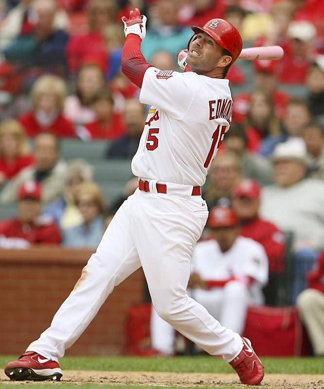 The Cardinals' Gold Glove center fielder played in only six games in September while coming back from post-concussion syndrome. It will be up to him to protect Albert Pujols in the St. Louis lineup.