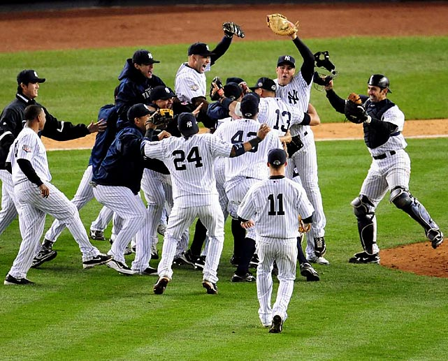 """""""Every World Series victory is special, but this one is especially sweet coming in the first year in our new home,"""" owner George Steinbrenner said in a statement. """"This group will become legendary similar to the 26 world championship teams that preceded them."""""""