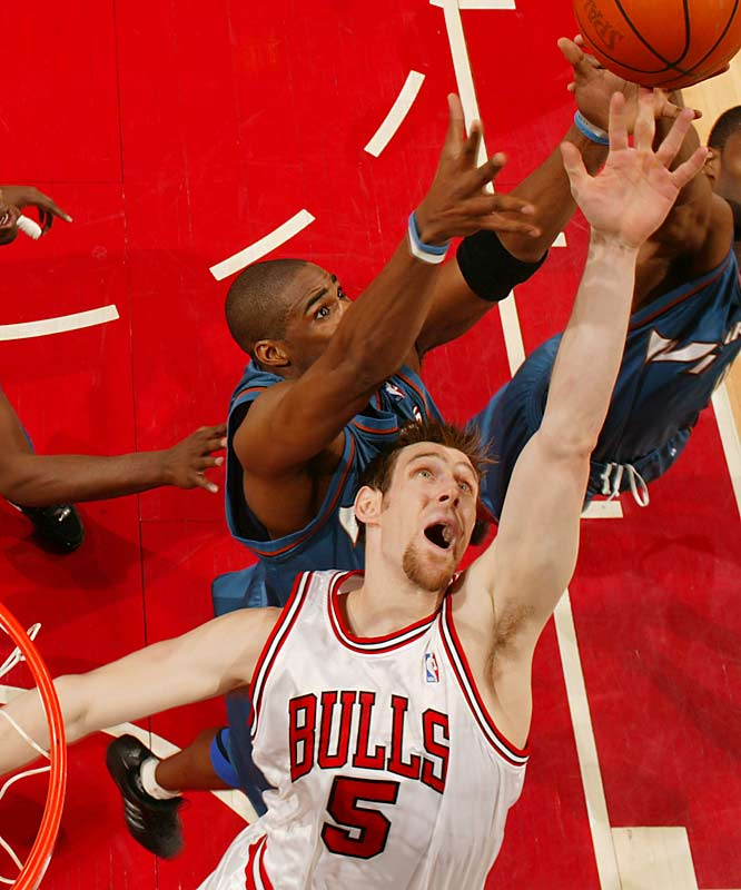 "Nocioni carried the Bulls to a playoff spot in the final month of the season, averaging 17.2 points and 8.7 rebounds in the final 23 games, while improving those averages to 22.8 points and 9.6 rebounds in Chicago's six-game opening-round loss to the Miami Heat. The man they call ""Chapu"" won't turn 27 until the second month of 2006-07 and should continue to improve as he enters his prime."