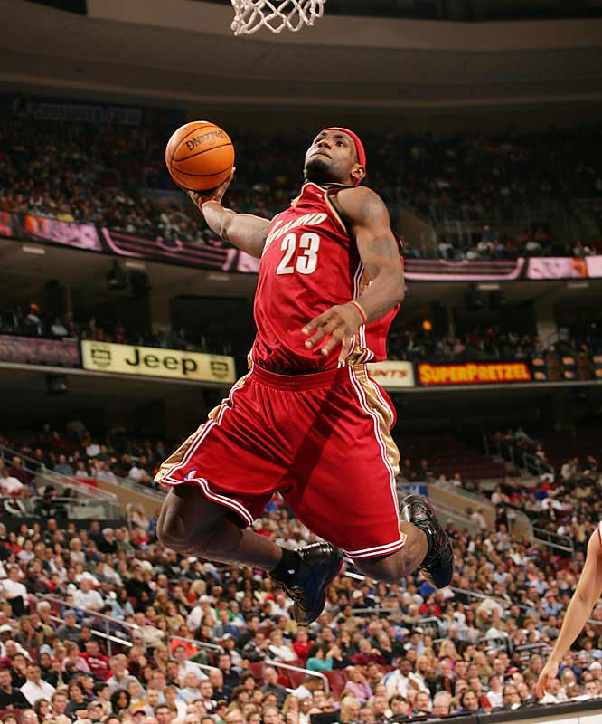 Up and Away: LeBron against the Sixers.