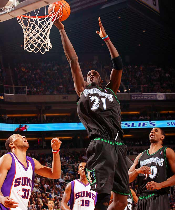 Easily the best all-around player of his generation, Garnett has long been among the league's rebounding leaders, but his place on the all-time defensive rebounding list may surprise you. With 585 defensive rebounds in '06-07, KG will pass Larry Bird, David Robinson, Bill Laimbeer, Dennis Rodman, Kevin Willis and (likely) Shaquille O'Neal for 12th place all-time. Garnett has averaged 836 defensive boards over the last three seasons, so he should be up to the task.