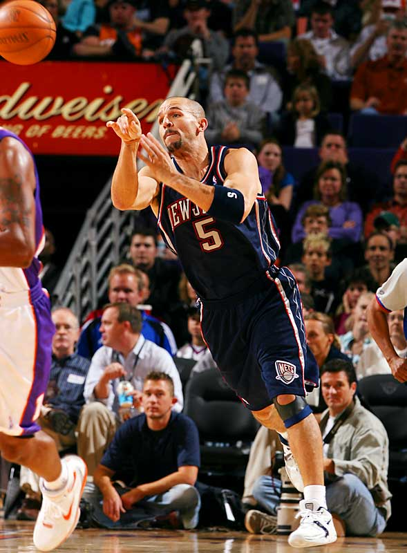 Kidd has led the NBA in assists per game five times in his career, and with 33 more assists in '06-07 (he had 672 last season) he'll move past Rod Strickland for seventh on the NBA's all-time list. He'll still fall short of fellow Bay Area native Gary Payton, who has 8,765 career assists and is likely to add about 250 more this season. It should be noted, though, that Payton has the luxury of having been in the NBA for four more seasons than Kidd, and Jason's 9.2 career assists per game trumps Payton's 6.9 career mark.