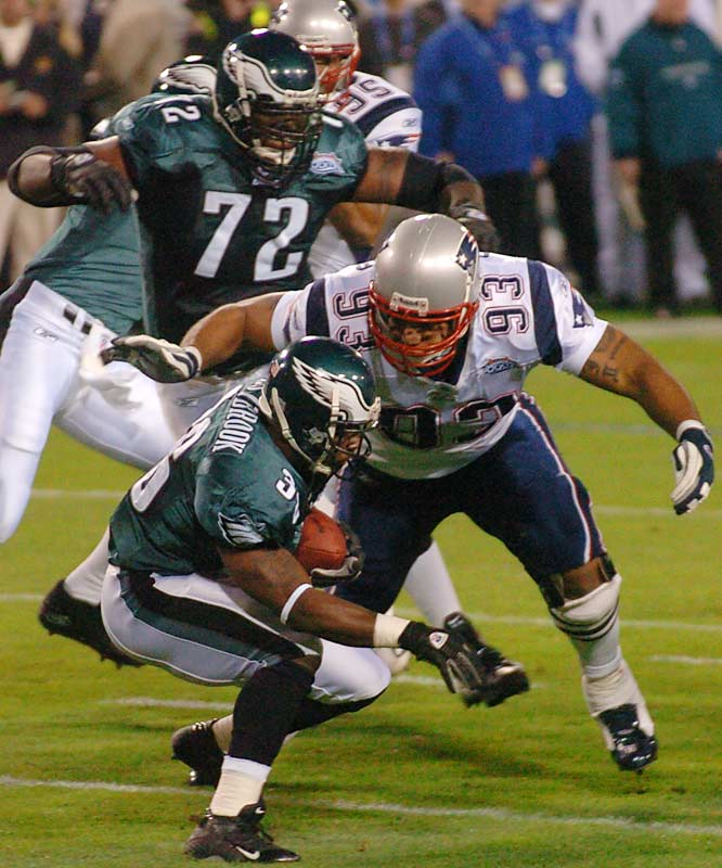 The Pats' defense was ranked second in the league thanks to the likes of versatile lineman Richard Seymour, who despite missing the AFC playoffs returned to the lineup for a 24-21 victory over the Eagles in Super Bowl XXXIX.