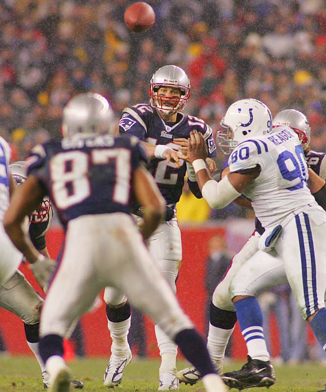 The 2004 Patriots set an NFL record with 21 straight wins, dating from the previous season, and won their third Super Bowl in four years under the leadership of quarterback Tom Brady.