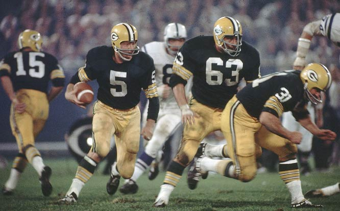 Paul Hornung scored five touchdowns for the Packers in an injury-plagued 1966, the Golden Boy's final season in the NFL.