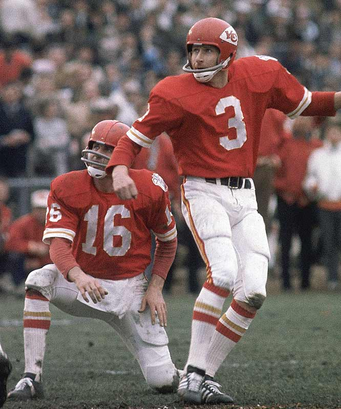 Quarterback Len Dawson may have been named the game's MVP, but Super Bowl IV was won off the foot of Chiefs kicker Jan Stenerud, whose three first-half field goals helped pace Kansas City to a 16-0 halftime lead.