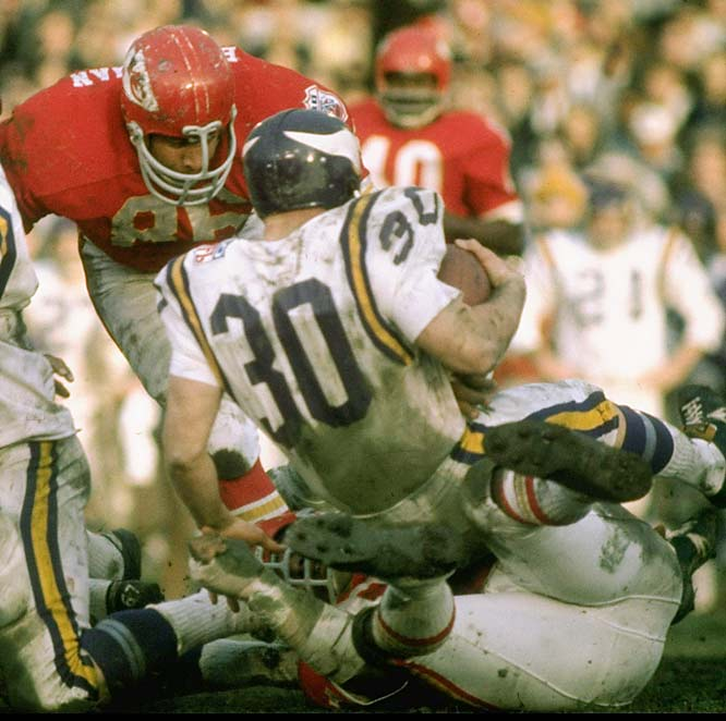 Kansas City's defense limited Bill Brown and the Vikings' vaunted running attack to a mere 67 yards rushing in helping the AFL to its second straight title game win over the NFL.