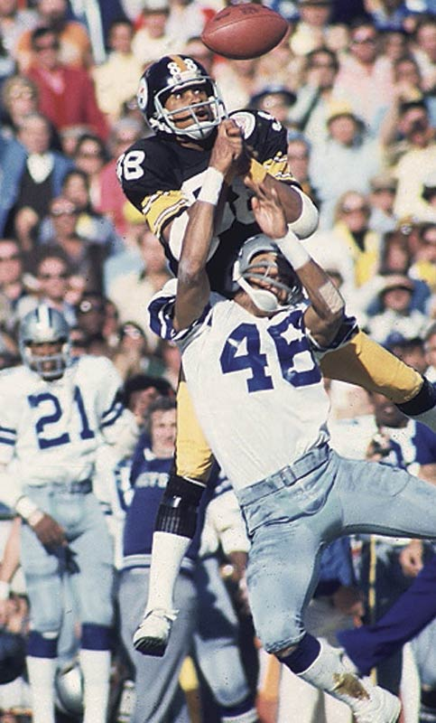 Having spent two days in a hospital after suffering a concussion in the AFC Championship game, Lynn Swann recovered in time to catch four passes for 161 yards in Super Bowl X. His 64-yard scoring reception in the fourth quarter put Pittsburgh up for good and helped him earn MVP honors.