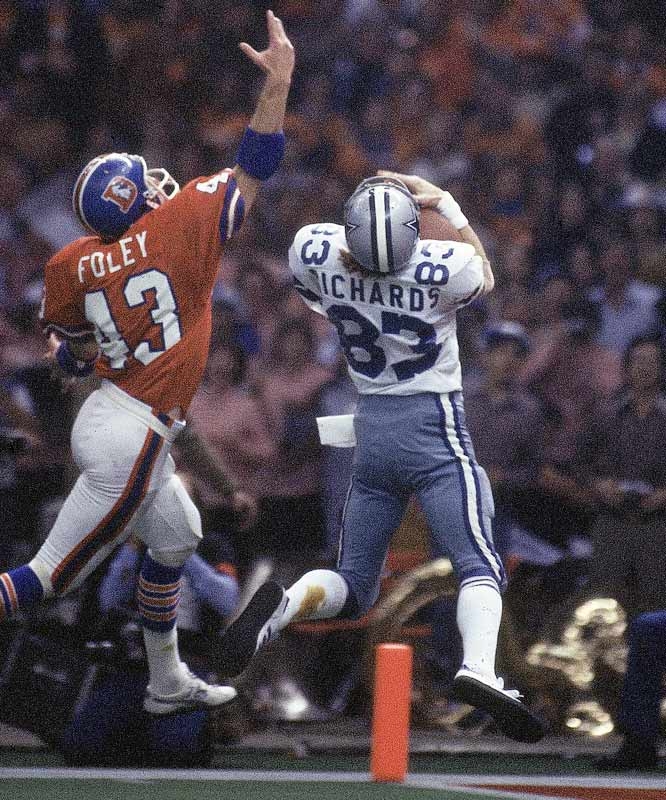 Golden Richards' 29-yard scoring pass from fullback Robert Newhouse gave the Cowboys a 27-10 lead and put Super Bowl XII out of reach.