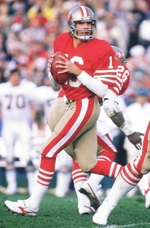 Joe Montana earned his second of three Super Bowl MVPs -- an NFL record. He completed 24 of 35 passes for 331 yards and three touchdowns and also ran for 59 yards and an additional score.