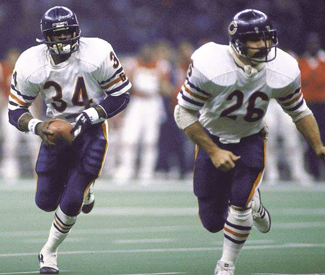 The NFL's all-time leading rusher at the time, Walter Payton ran for 1,551 yards to help the 1985 Bears finish first in the league in rushing touchdowns and yards.  He gained 61 yards on 22 carries in Super Bowl XX, but didn't score.