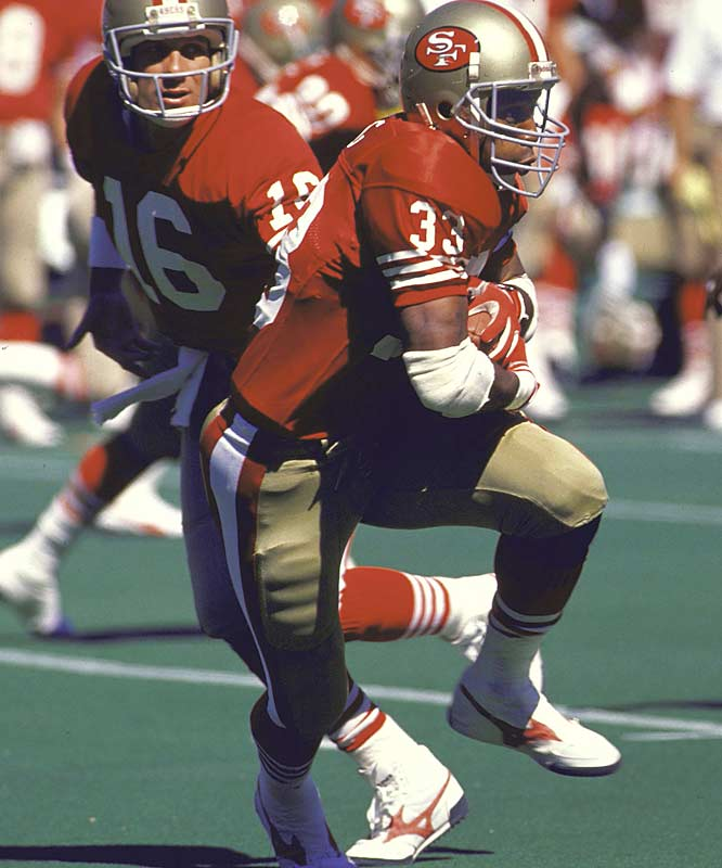 The 1989 49ers had the top offense in the league with quarterback Joe Montana and running back Roger Craig leading the way to their second straight Super Bowl victory.