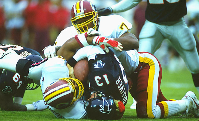 Led by the likes of Charles Mann (71), Wilber Marshall and Darrell Green, the Redskins were third in the league in total defense in 1991.
