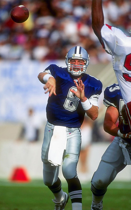 Quarterback Troy Aikman masterfully directed coach Jimmy Johnson's offense, compiling 302 receptions, 3,445 yards and 23 TDs during Dallas' 13-3 regular season. In the Super Bowl, Aikman shredded the Bills for 273 yards and four TDs, bagging the game's MVP award.