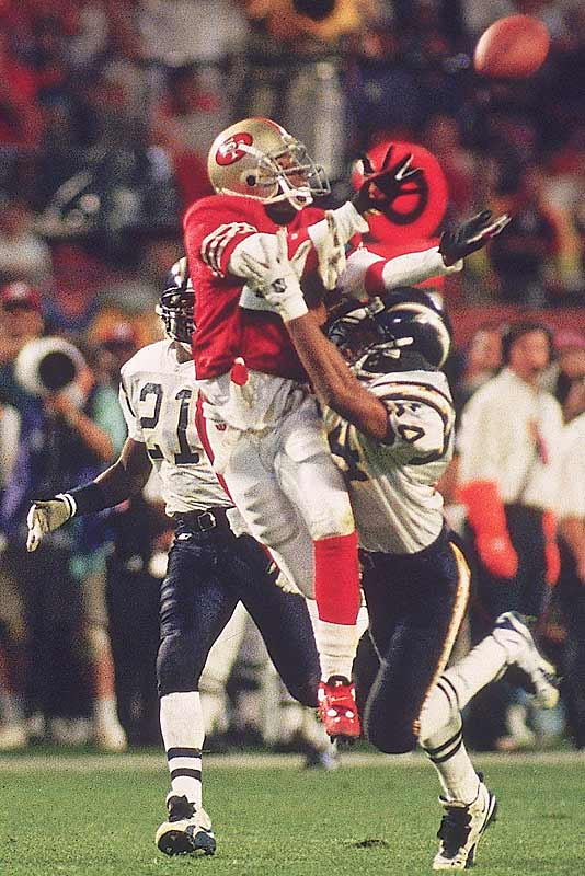 Deion Sanders was one of several veteran free agents the 49ers signed to shore up their defense and the move paid off handsomely as San Francisco went to the NFC Championship game for the third consecutive year and won this time.