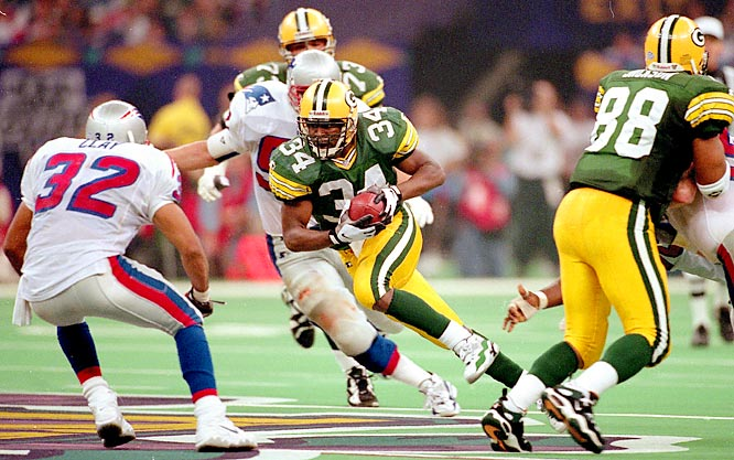 The Packers didn't have a Pro Bowl running back, but got plenty of production out of Dorsey Levens and Edgar Bennett (34), who led the team in rushing with 899 yards.