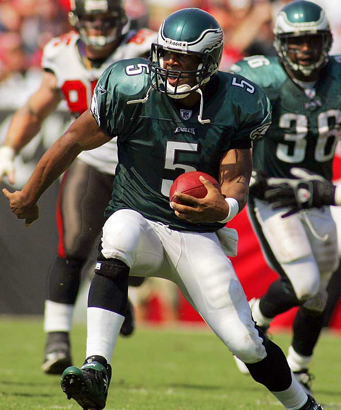 506 ... Donovan McNabb and the Eagles gained 506 yards on Sunday, becoming the first team in nearly six years to gain 500 or more yards and fail to score more than 21 points. The last time it happened was Dec. 24, 2000, when the Jets outgained the Ravens 524-142 but lost 34-20.