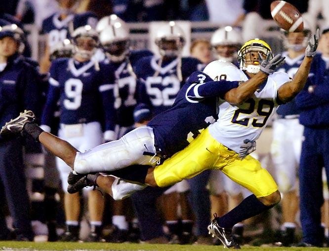Hall is a shutdown corner who has opposing quarterbacks throwing away from him at Michigan.