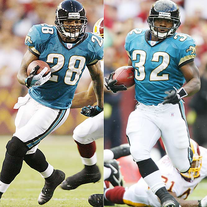Taylor ranks third in the AFC with 367 rushing yards, while Jones-Drew is quickly emerging as one of the Jags' top weapons. The rookie out of UCLA had 103 rushing yards against Indy in Week 3 and ran for two touchdowns against the Jets last Sunday. Jones-Drew's ability to spell Taylor is huge, considering the longtime Jag's durability issues.