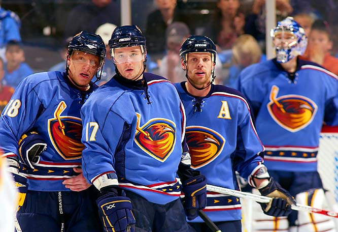 With Marian Hossa (18) lighting the lamp a league-best 10 times and goaltender Kari Lehtonen (7-1, 1.96 GAA, two shutouts) showing signs of becoming the next elite goaltender, the Thrashers got off to the best start (7-1-0) in their seven-year history.
