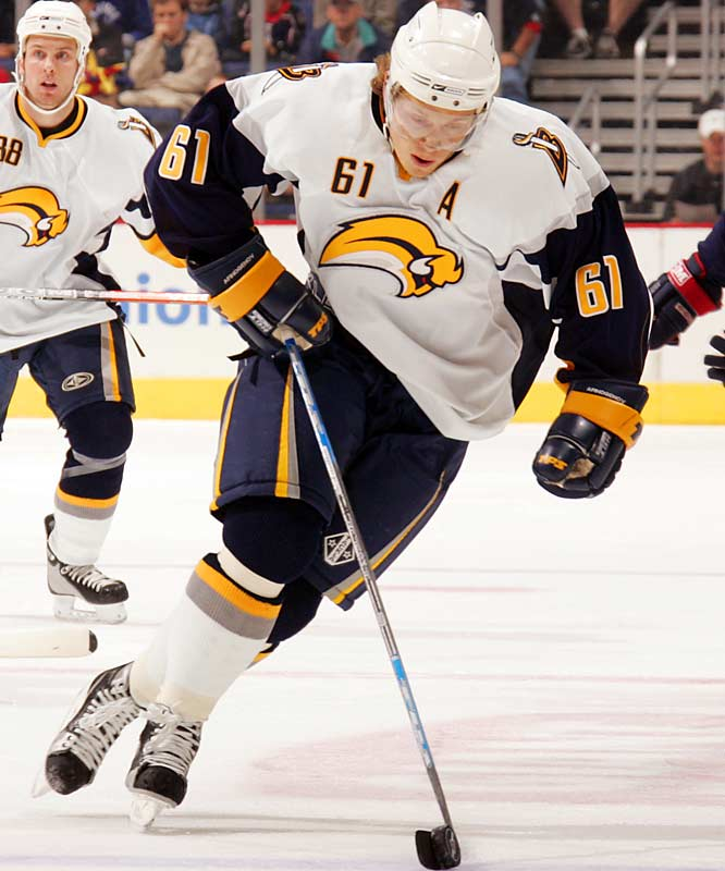 Speed kills (opponents) in the New NHL, and Buffalo's top scorer last season (22 goals, career-best 51 assists, 73 points) frequently lights the lamp off the rush. Blessed with a shifty knack for making defenders look silly, he personifies the Sabres: young, talented and extremely mobile.