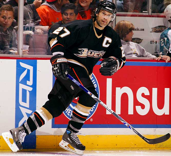 A two-time winner of the All-Star fastest skater competition, nimble Niedermayer has speed in his genes (his mother was a power-skating instructor). He was also tutored by NHL skating guru Laura Stamm. Breathtakingly efficient, he needs few strides to cover a lot of ice while rushing the puck (career-high 63 points last season) or intercepting the other team's swiftest forwards.