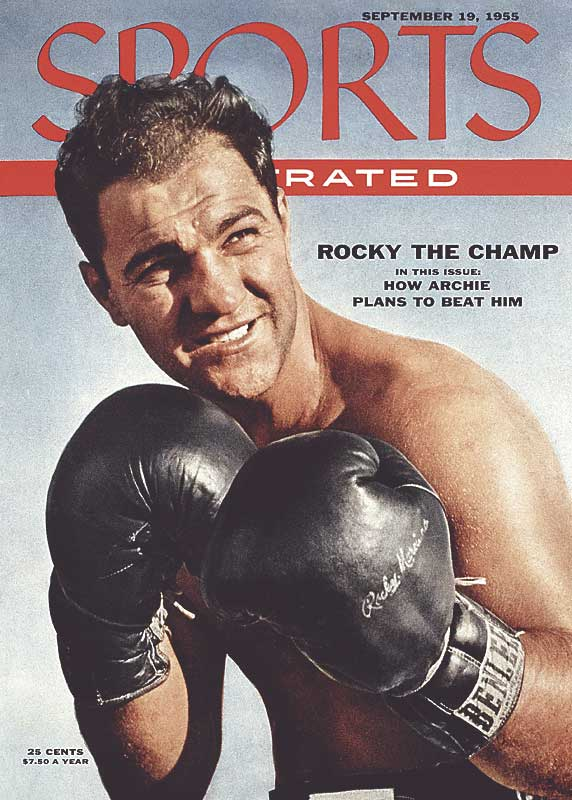 Former heavyweight champion Rocky Marciano died in Newton, Iowa when his plane crashed en route to a birthday party the day before his 46th birthday.