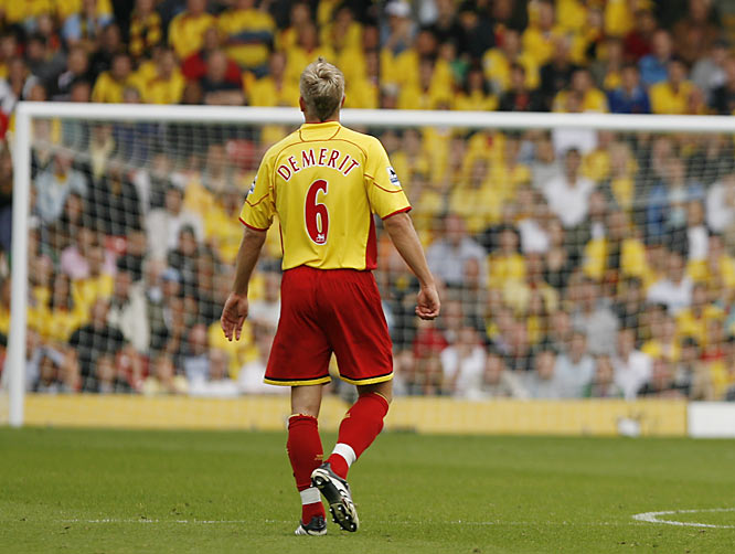 "DeMerit's heroics and hard play have made him an improbable fan favorite at Watford's Vicarage Road stadium. Hornets supporters routinely chant ""U-S-A! U-S-A!"" and ""Jaaaaay, Jay DeMerit! Jay-Jay-Jay from the USA!"""