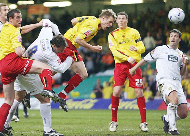 "It was a Hollywood moment, almost the soccer version of ""Rocky."" In the League Championship playoffs in May, DeMerit headed in what would prove to be the decisive goal against Leeds United. Watford won the match and, with it, promotion to the Premier League for the 2006-07 season, turning the American defender into an overnight celebrity."