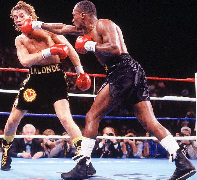 Won WBC Light Heavyweight and Super Middleweight Titles versus Don Lalonde.