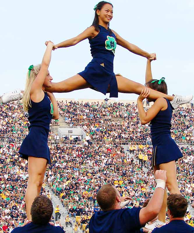 Meet Maggie McGinn, a senior at Notre Dame and member of the Fighting Irish cheerleading squad. Off the field, Maggie enjoys Oprah and going to the arcade. To find out more about Maggie, click on the 20 Questions link below.